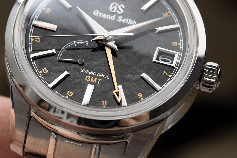Detalle de la esfera del Grand Seiko Elegance GMT «24 Estaciones» KANRO – SBGE271G