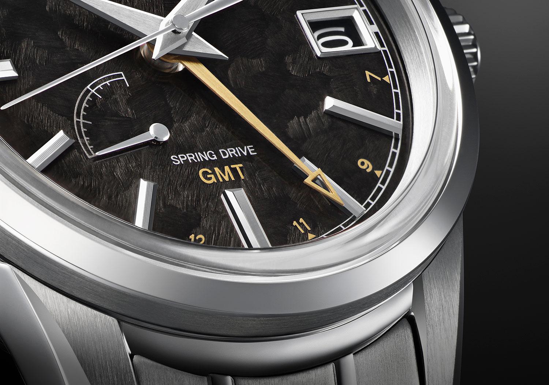 Detalle del Grand Seiko Elegance GMT 24 Estaciones Kanro