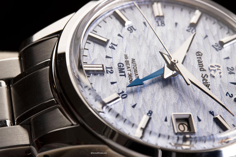 la manecilla GMT del Grand Seiko Elegance GMT «24 Estaciones» SHŌSHO – SBGJ249G