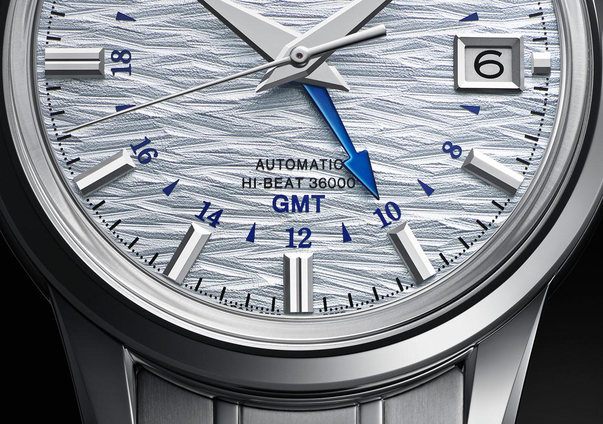 Detalle del Grand Seiko Elegance GMT 24 Estaciones Shosho