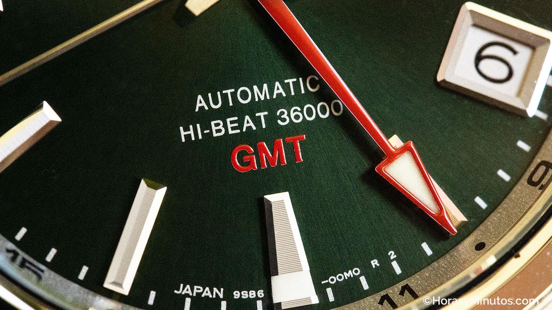 Detalle de la esfera del Grand Seiko Hi-Beat GMT SBGJ239G