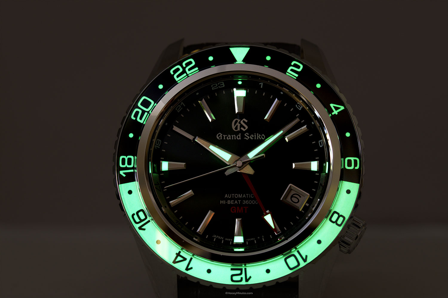 LumiBrite del Grand Seiko Hi-Beat GMT SBGJ239G