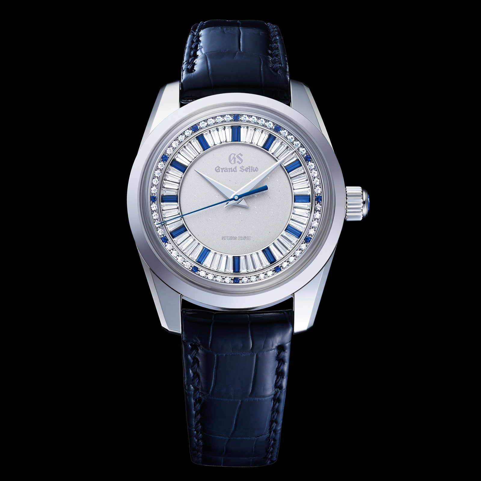Frontal del Grand Seiko Masterpiece Collection Spring Drive 8 Days Jewelry Watch SBGD205
