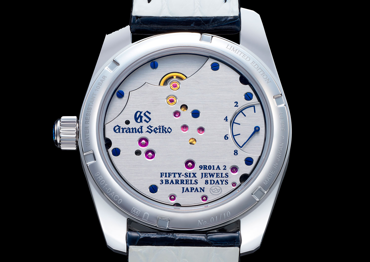 Calibre 9R01A del Grand Seiko Masterpiece Collection Spring Drive 8 Days Jewelry Watch SBGD205