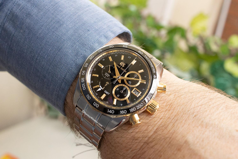 Así queda el Grand Seiko Spring Drive Chronograph GMT 140th Anniversary