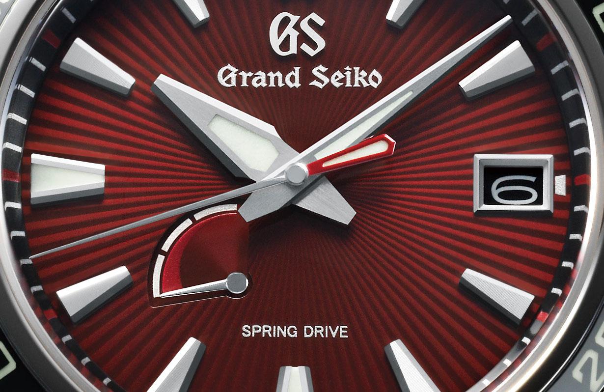 Detalle de la esfera del Grand Seiko Godzilla 65th Anniversary Limited Edition
