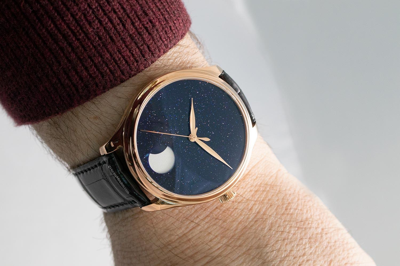 Así queda el H. Moser & Cie Endeavour Perpetual Moon Concept Aventurine