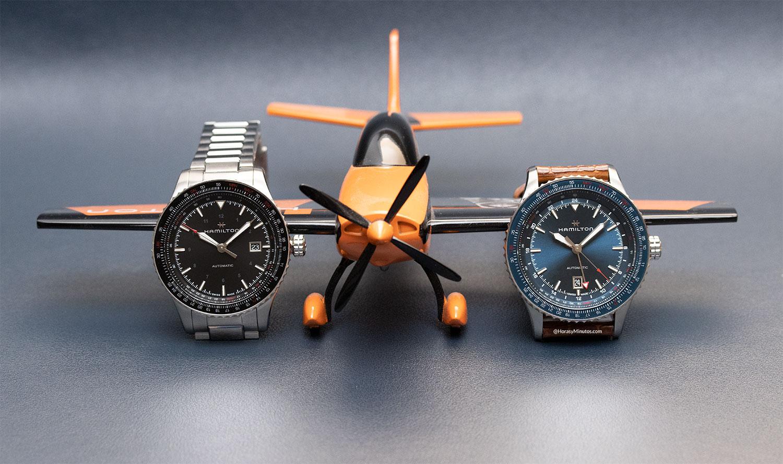 Los Hamilton Khaki Aviation Converter Auto y GMT