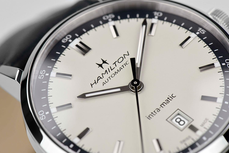 Detalle de la esfera del Hamilton Intra-Matic Automatic