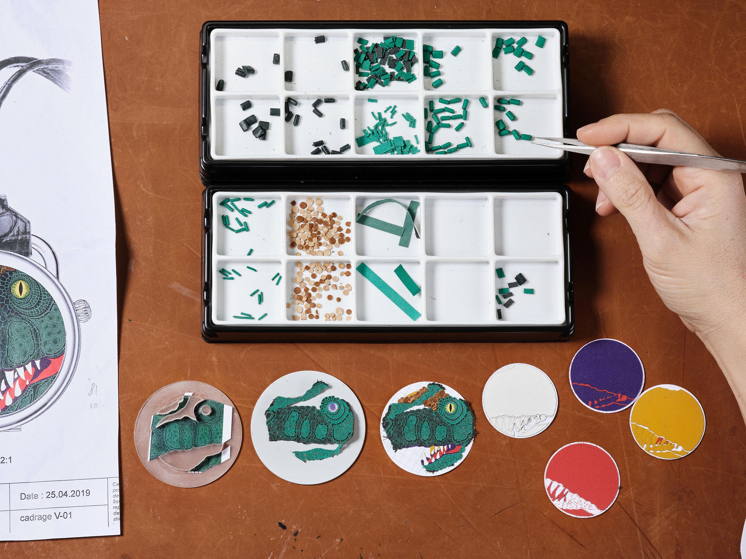 Materiales para la creación del Hermès Arceau Pocket Aaaaargh!