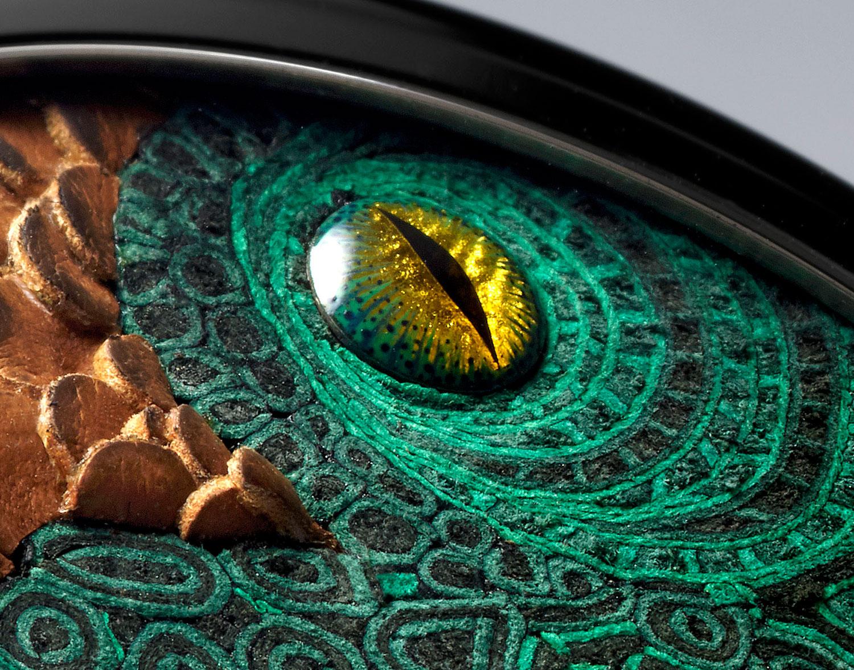 Detalle del ojo del Hermès Arceau Pocket Aaaaargh!