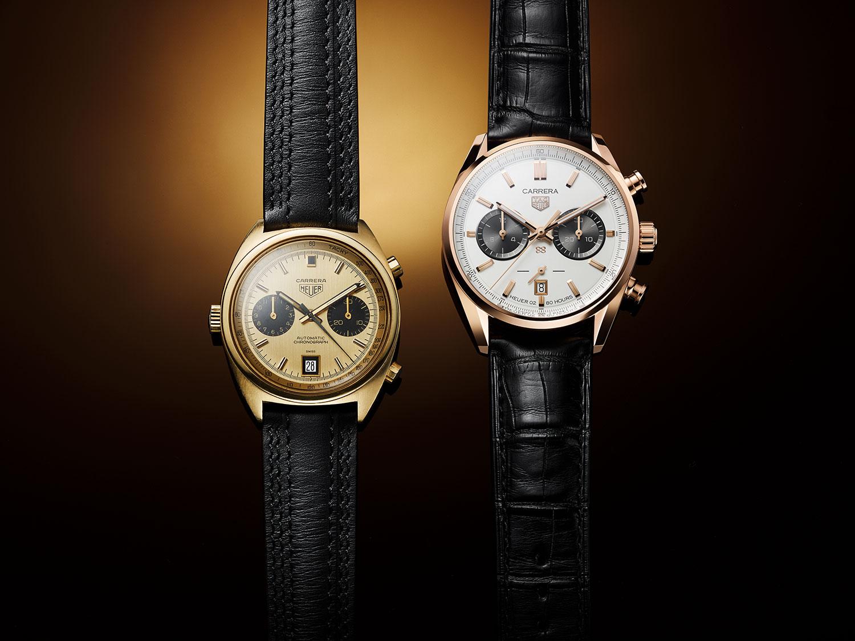 El Heuer Carrera 1158CHN y el TAG Heuer Carrera Chronograph Jack Heuer Birthday Gold Limited Edition