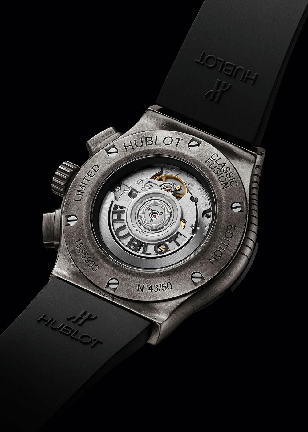 Calibre del Hublot Classic Fusion Chronograph Shepard Fairey