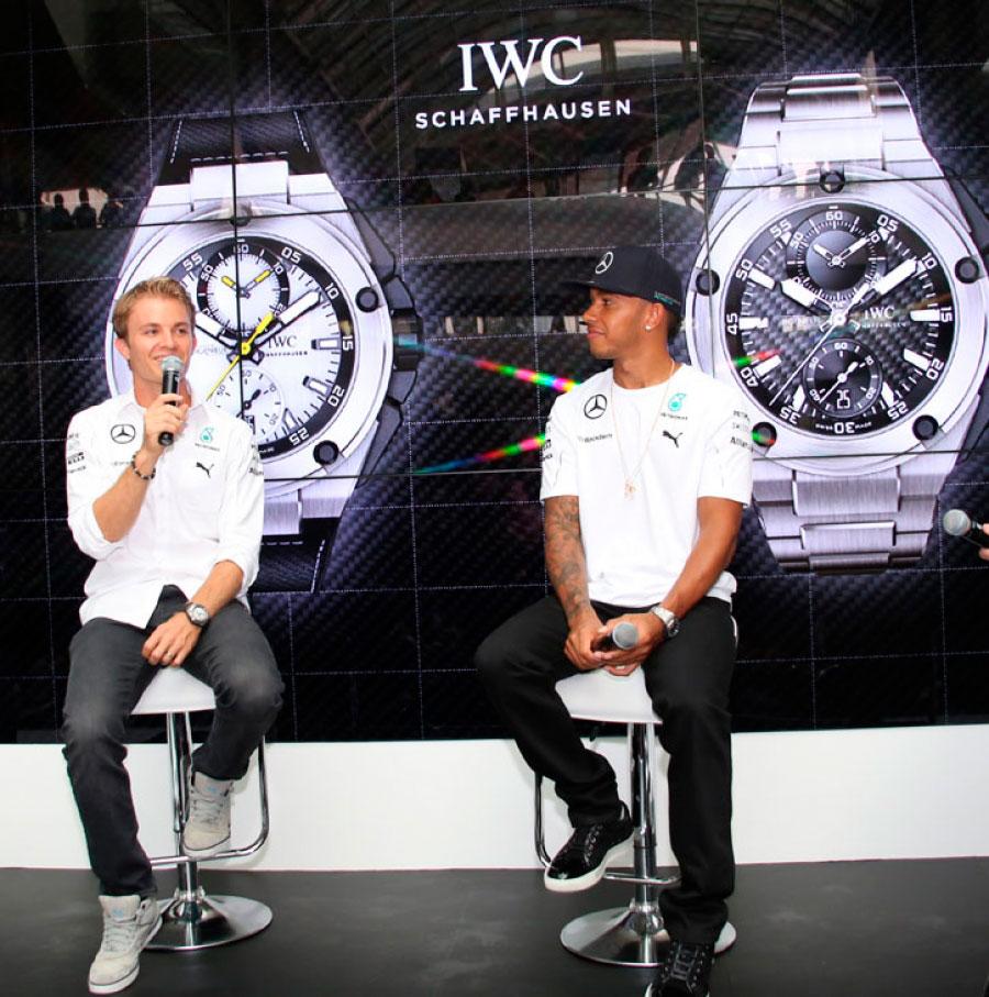 IWC Ingenieur Nico Roswell y Lewis Hamilton