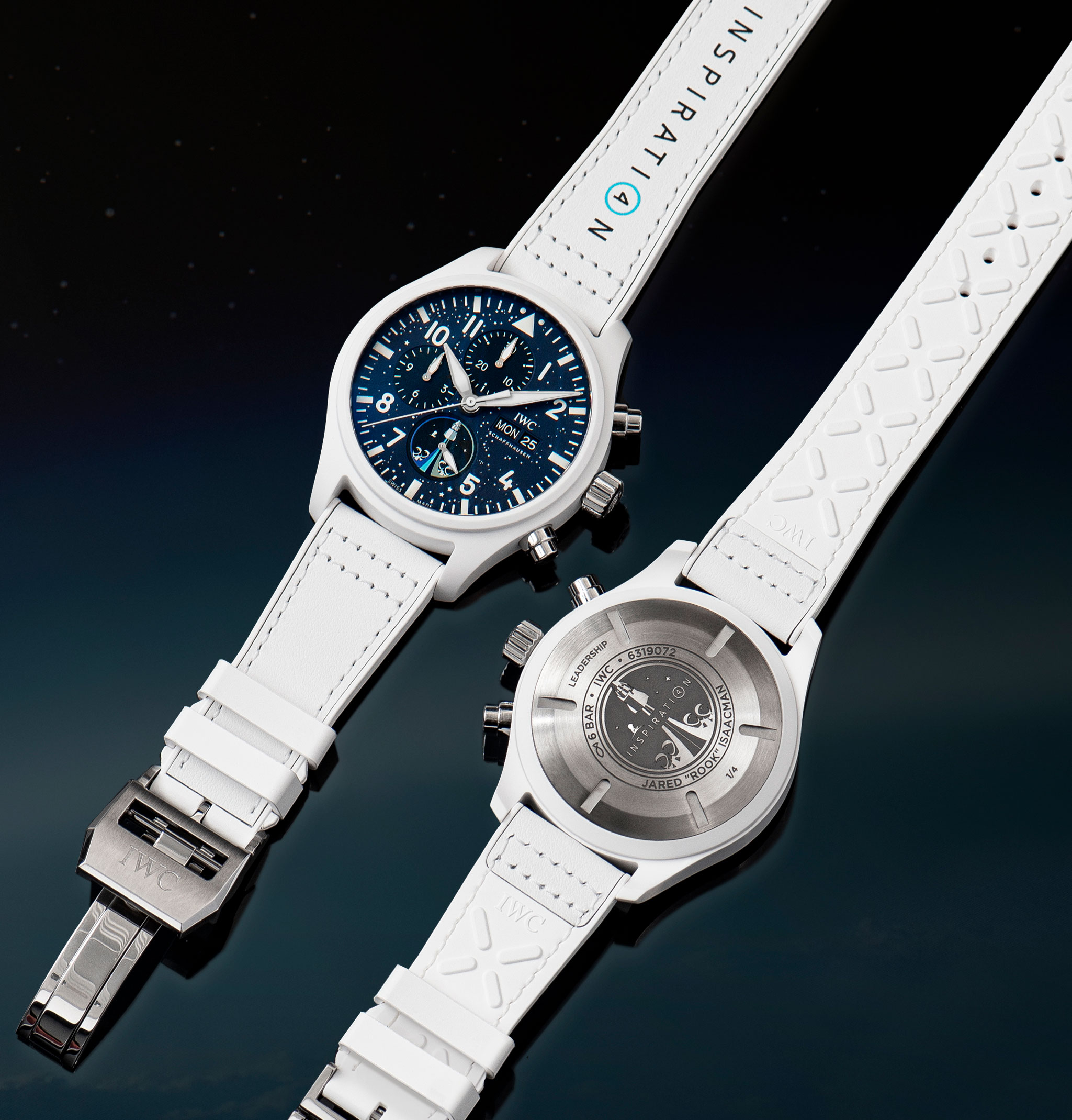 Frontal y reverso del IWC Inspiration4 Chronograph