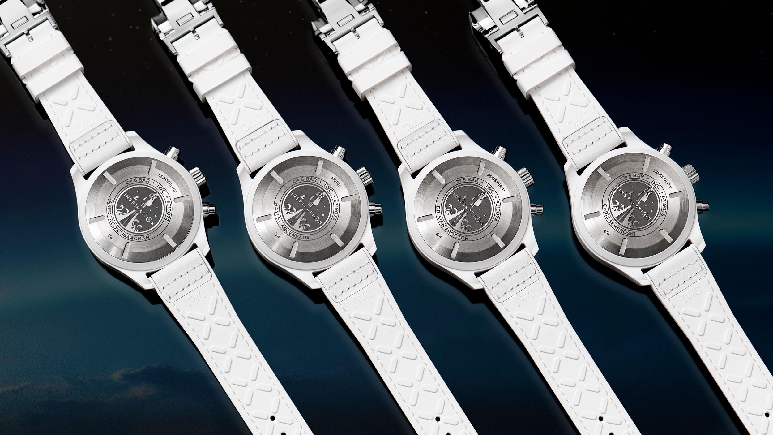 Los cuatro IWC Inspiration4 Chronograph