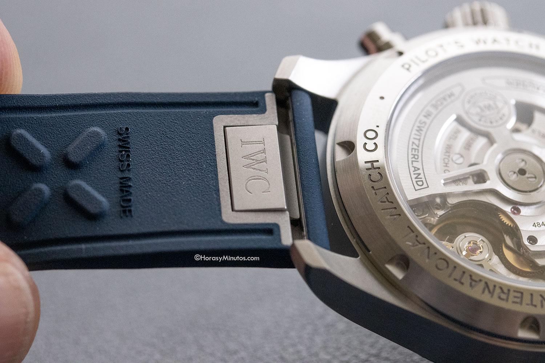 Sistema de cambio de correas del IWC Pilot's Watch Chronograph 41 mm