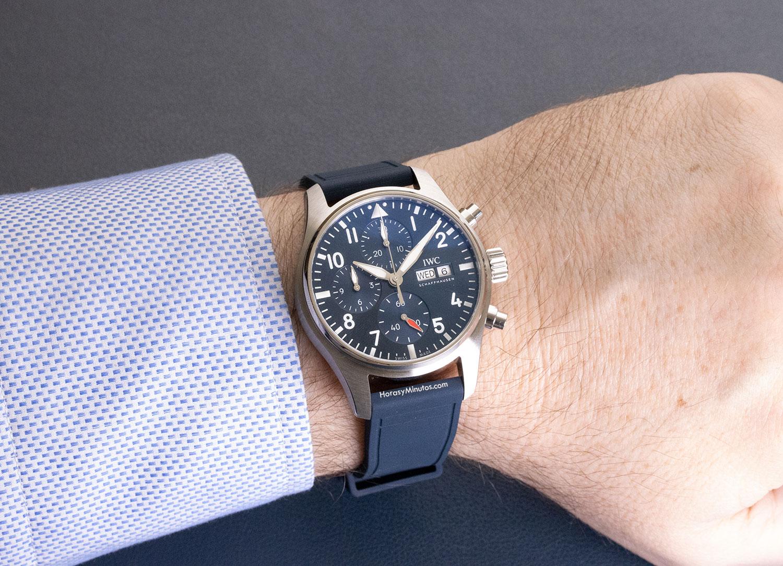 IWC Pilot's Watch Chronograph 41 mm con correa de caucho