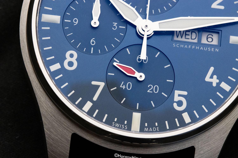 Dealle del pequeño segundero del IWC Pilot's Watch Chronograph 41 mm