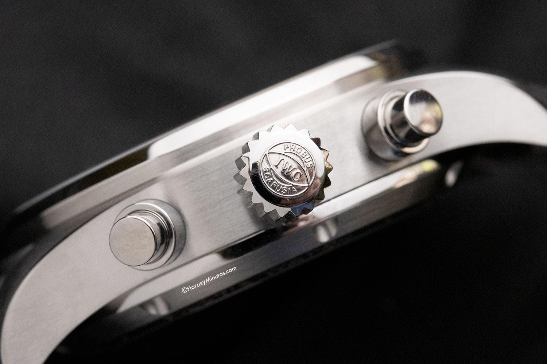 Carrura, corona y pulsadores del IWC Pilot's Watch Chronograph 41 mm