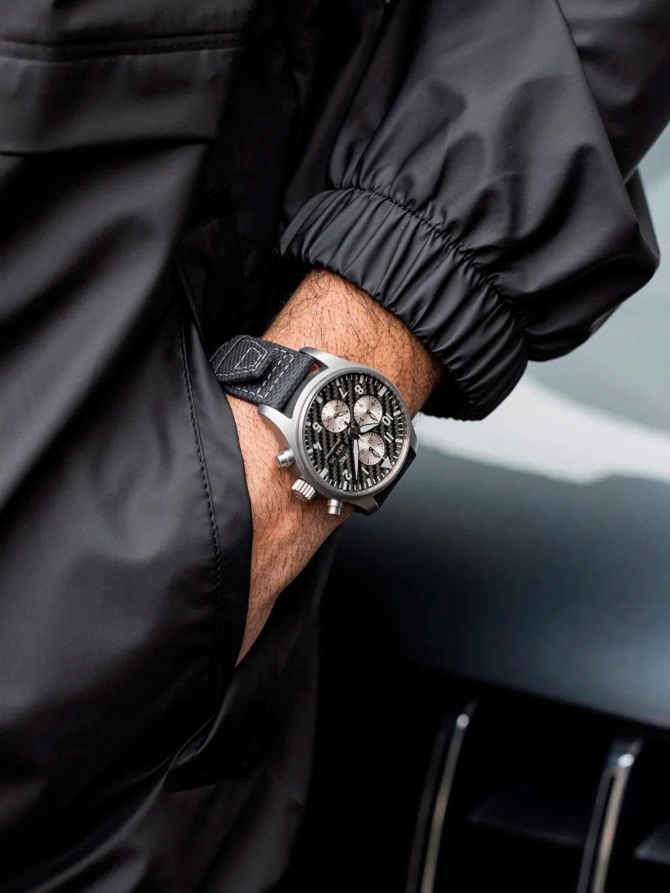 "Así queda el IWC Pilot's Watch Chronograph Edition ""AMG"""