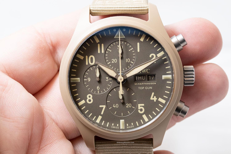 """Esfera del IWC Pilot's Watch Chronograph TOP GUN Edition """"Mojave Desert"""""""