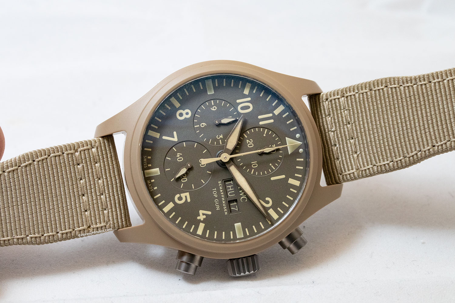 "El IWC Pilot's Watch Chronograph TOP GUN Edition ""Mojave Desert"""