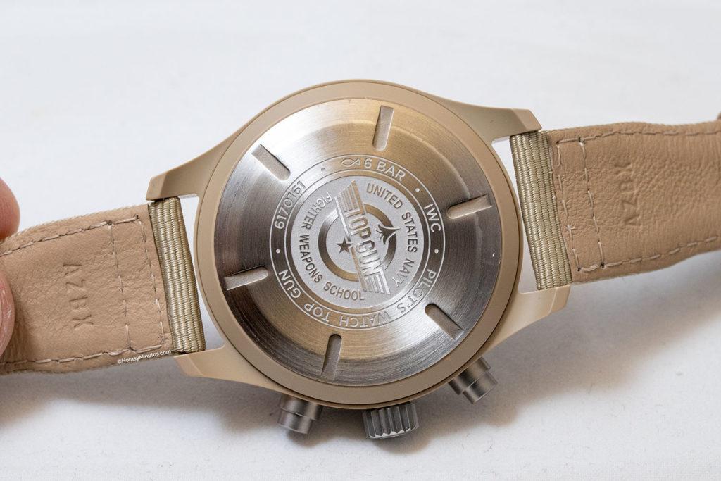 "Trasera del IWC Pilot's Watch Chronograph TOP GUN Edition ""Mojave Desert"""