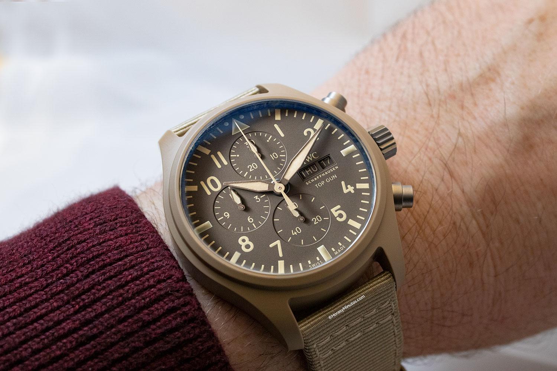 "Así queda el IWC Pilot's Watch Chronograph TOP GUN Edition ""Mojave Desert"""