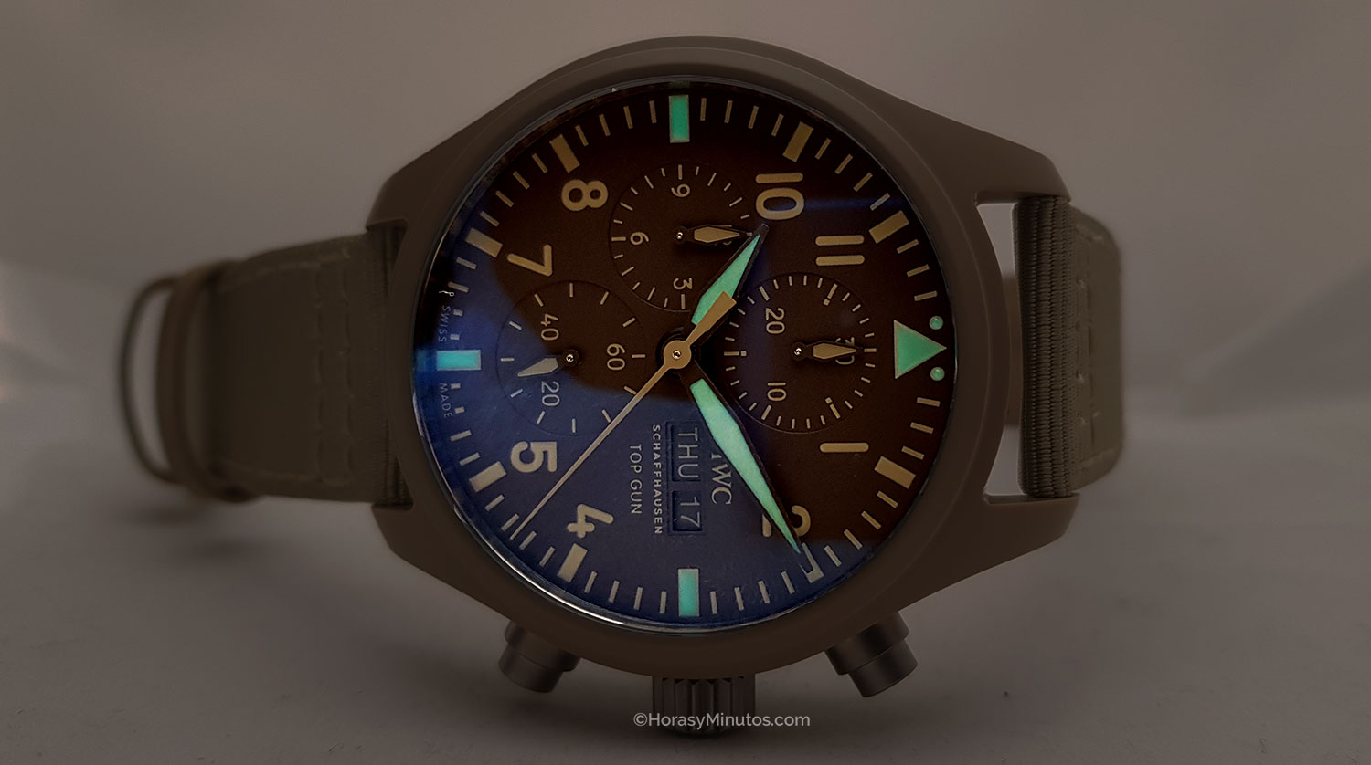 "Super-LumiNova del IWC Pilot's Watch Chronograph TOP GUN Edition ""Mojave Desert"""