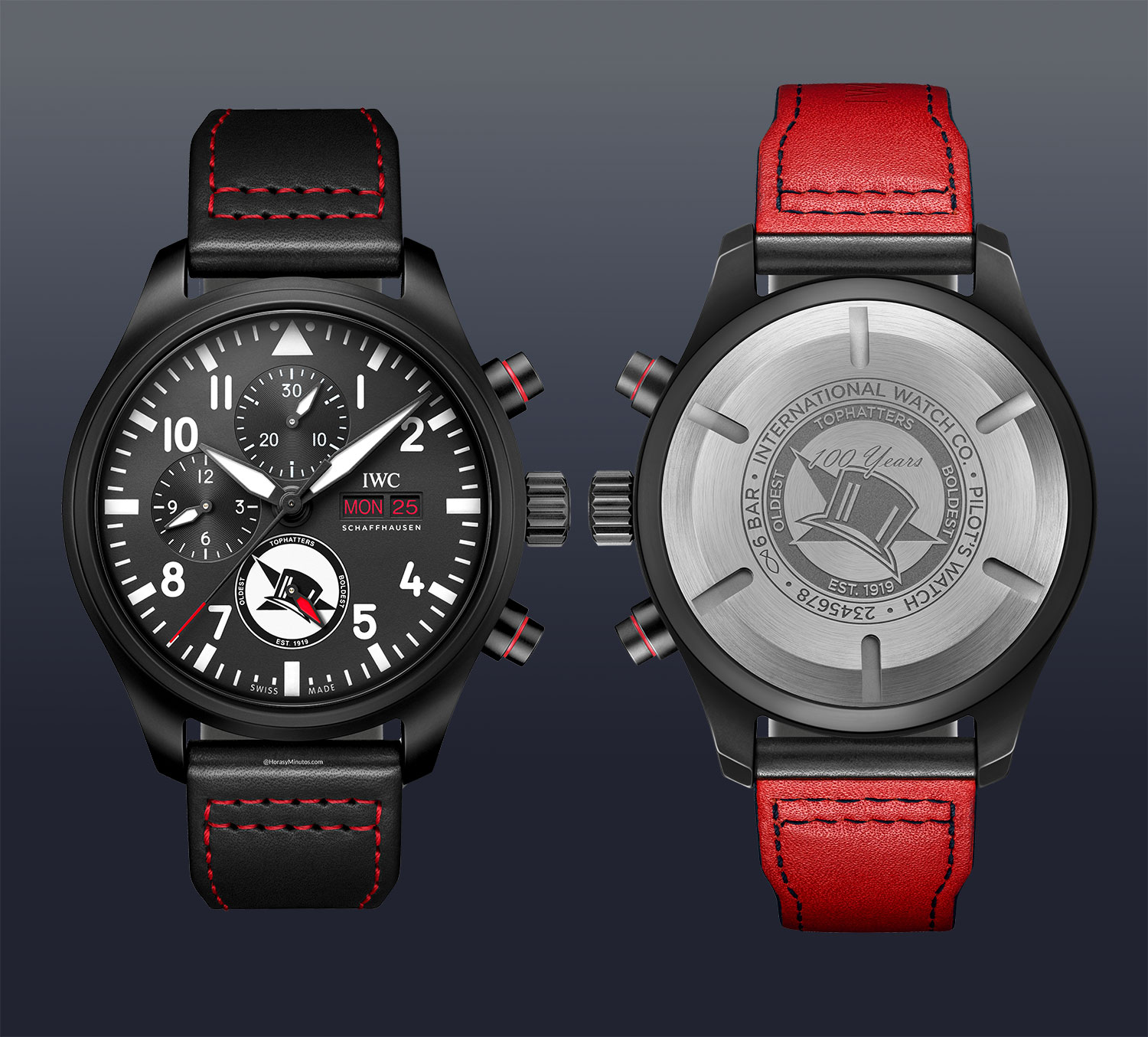 """IWC Pilot's Watch Chronograph U.S. Navy Squadrons """"Tophatters"""""""