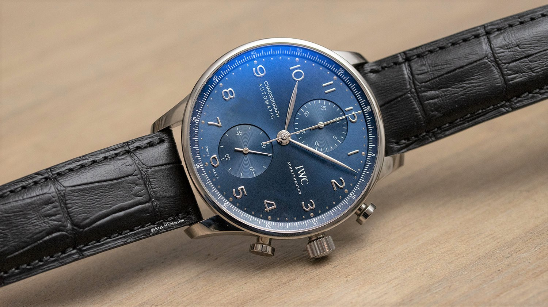 IWC Portugieser Chronograph azul