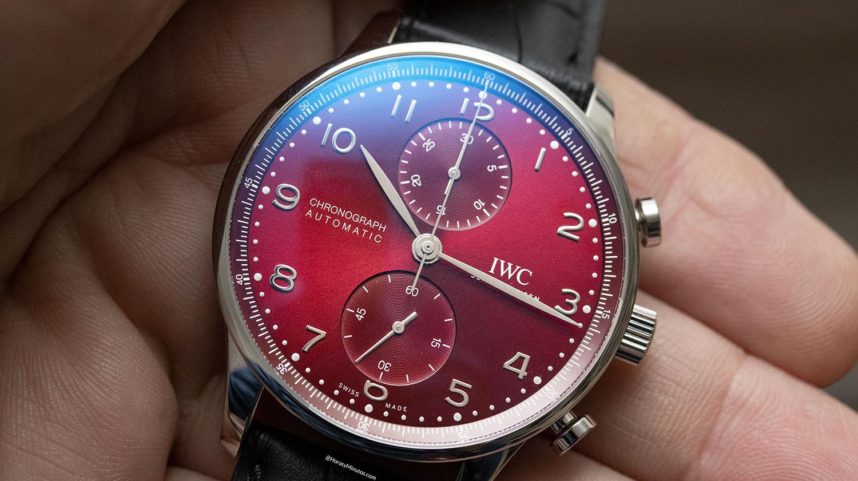 IWC Portugieser Chronograph rojo
