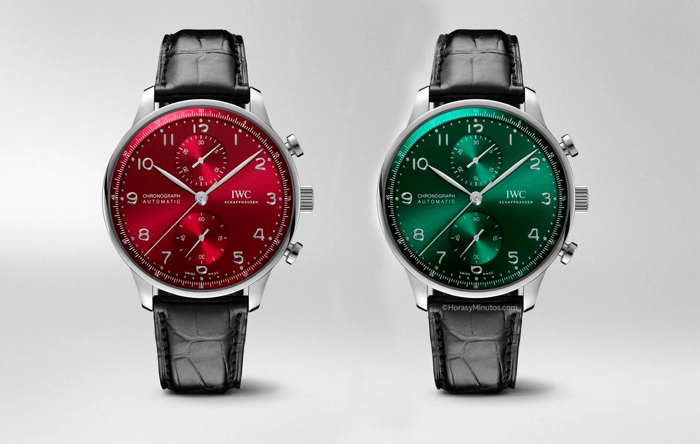 IWC Portugieser Chronograph Verde y Rojo