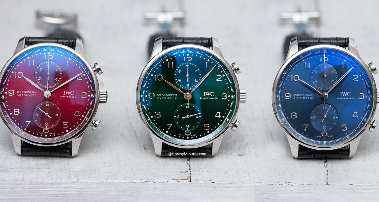 Los tres IWC Portugieser Chronograph