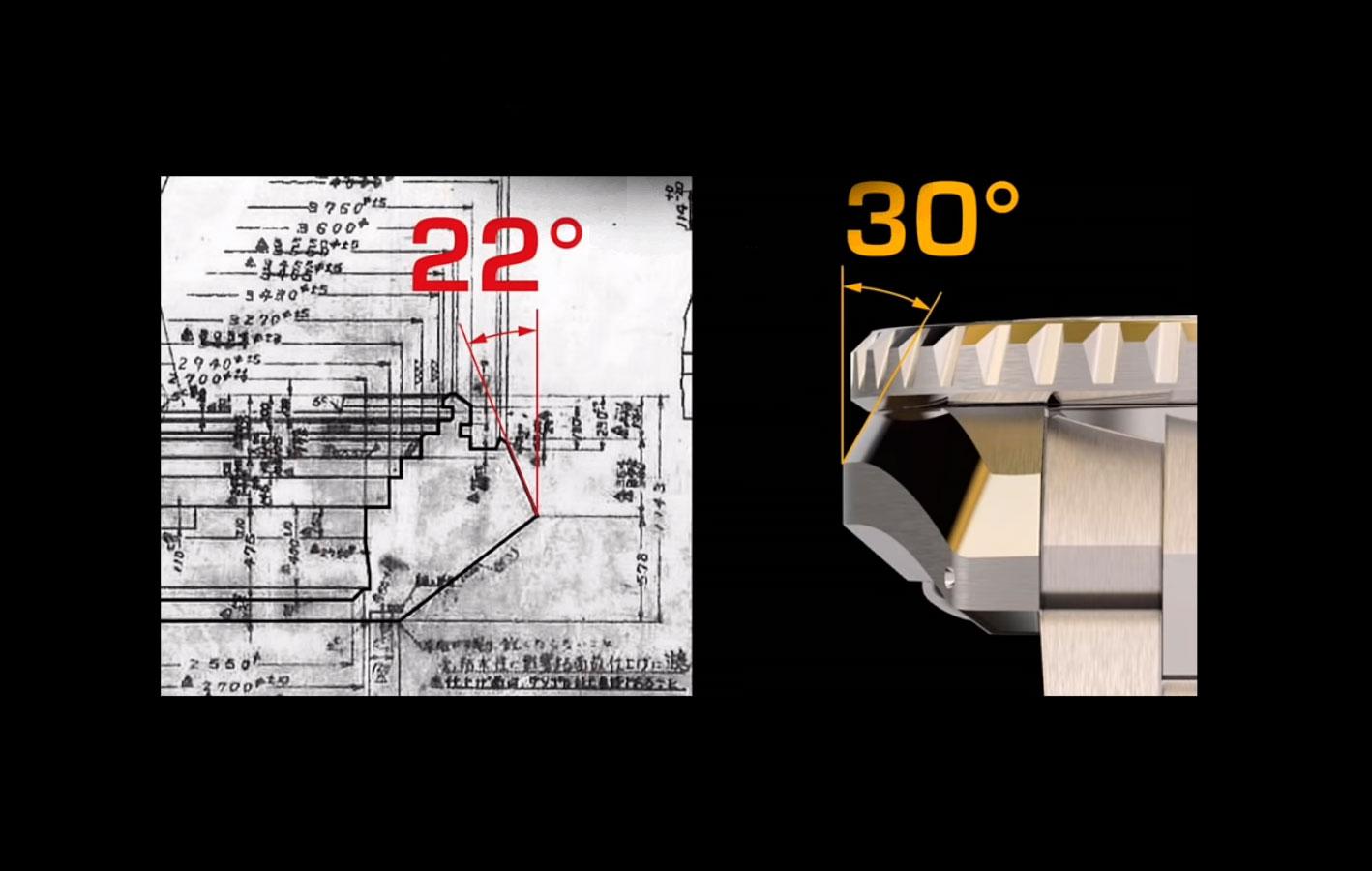 Inclinación de la caja de los Seiko Prospex LX