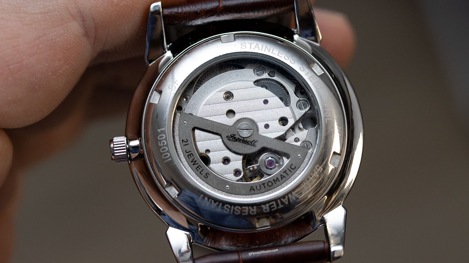 Calibre Miyota del Ingersoll New Haven Automatic