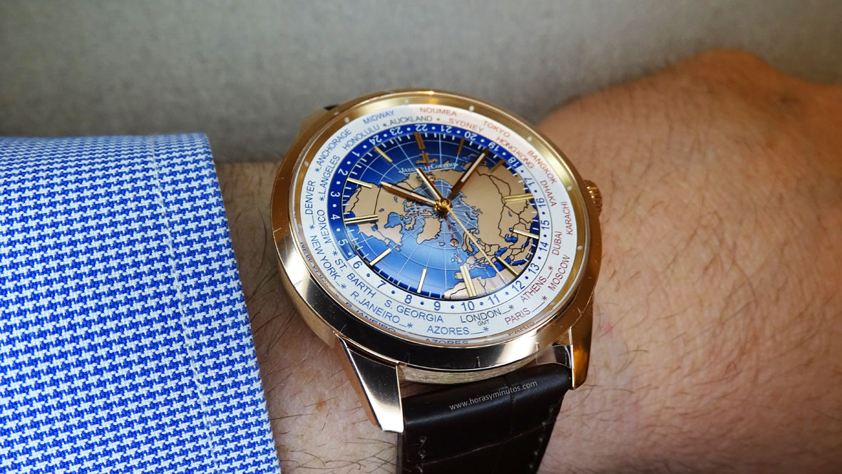 Jaeger-LeCoultre Geophysic Universal Time oro rosa perfil