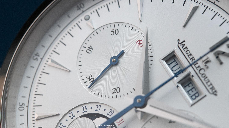 El pequeño segundero del Jaeger-LeCoultre Master Control Chronograph Calendar