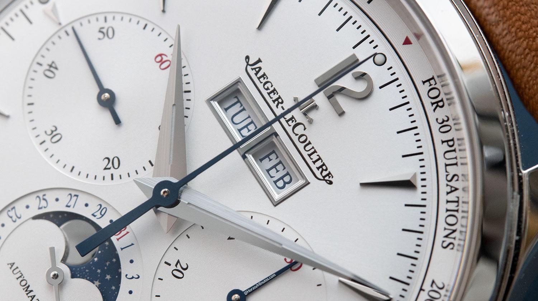 Ventanas de día y mes del Jaeger-LeCoultre Master Control Chronograph Calendar