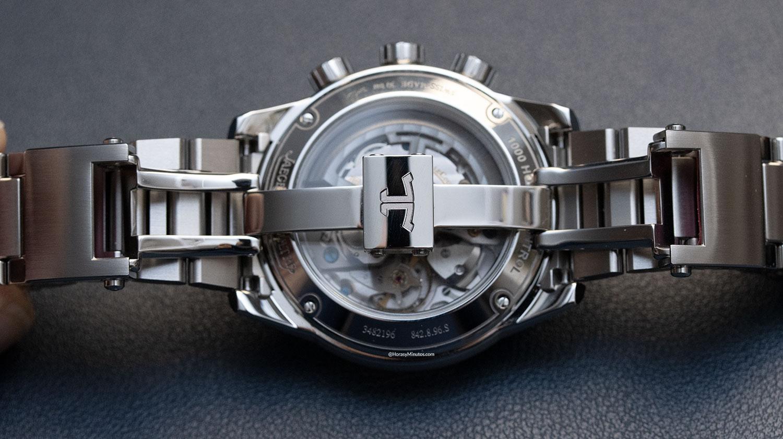 Cierre del brazalete del Jaeger-LeCoultre Polaris Mariner Memovox