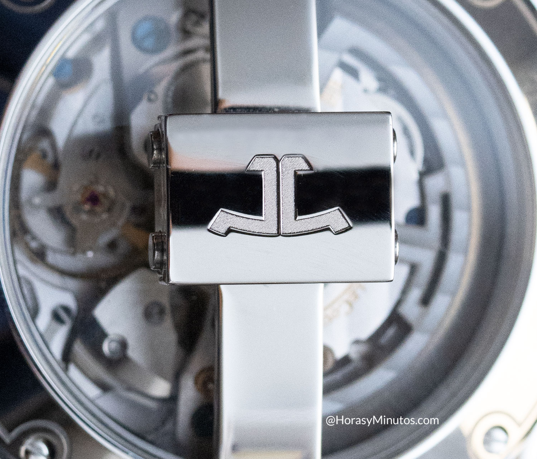 Detalle del cierre plegable de Jaeger-LeCoultre Polaris Mariner Memovox