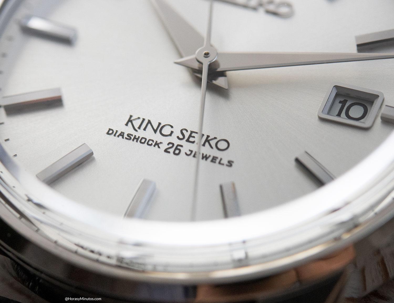 Detalle de la esfera del King Seiko KSK