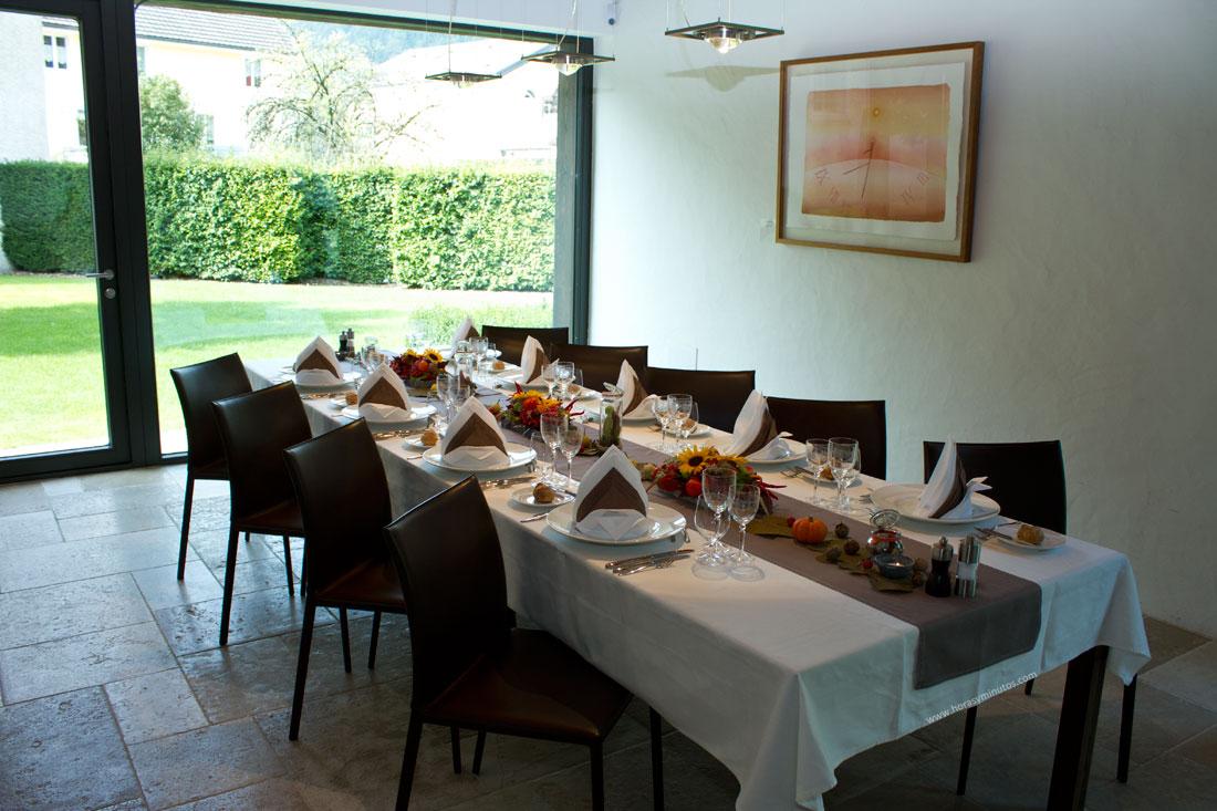 La mesa preparada en el Chopard Forum