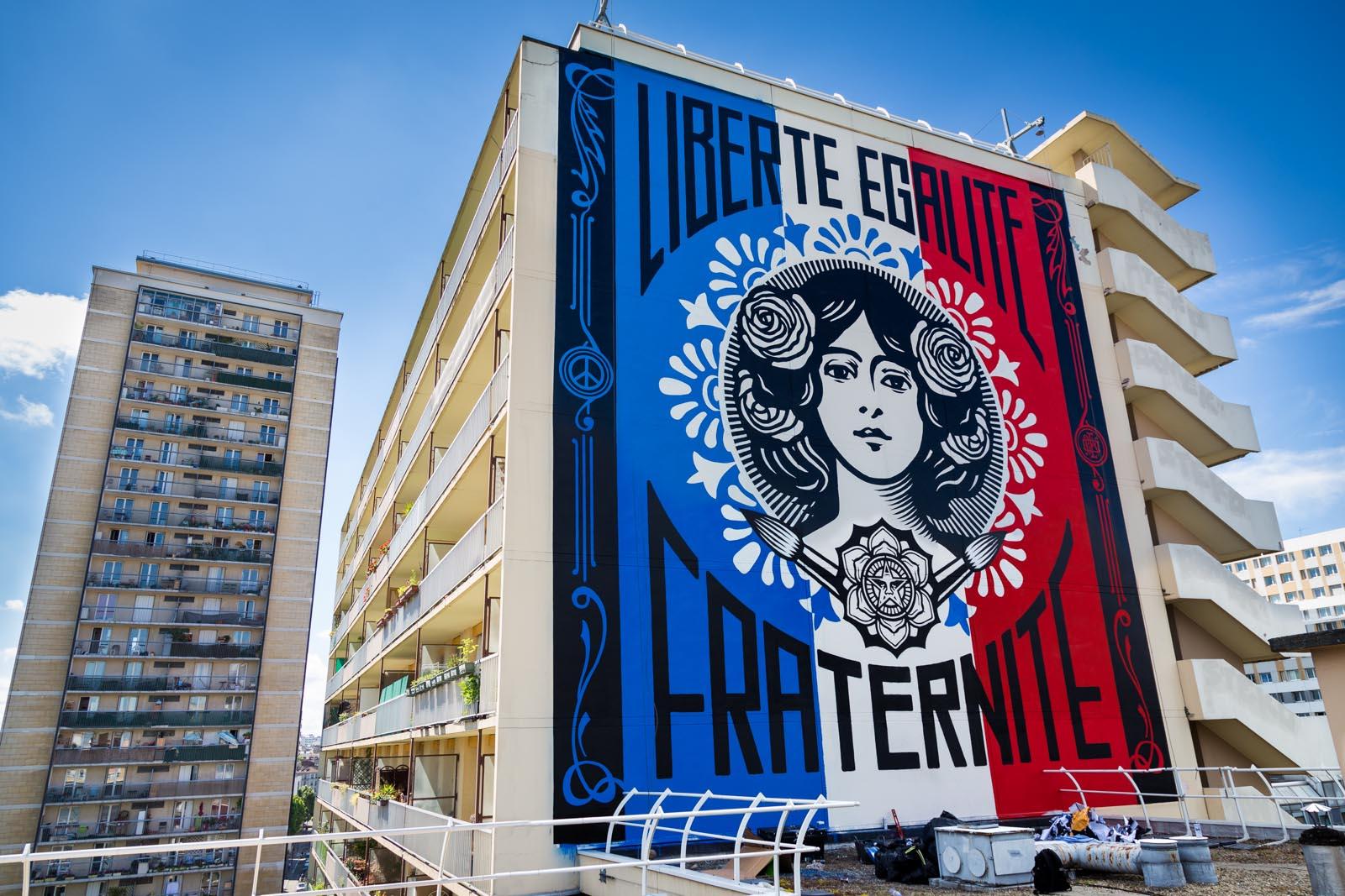"""""""Liberté, Egalité, Fraternité"""", de Shepard Fairey"""