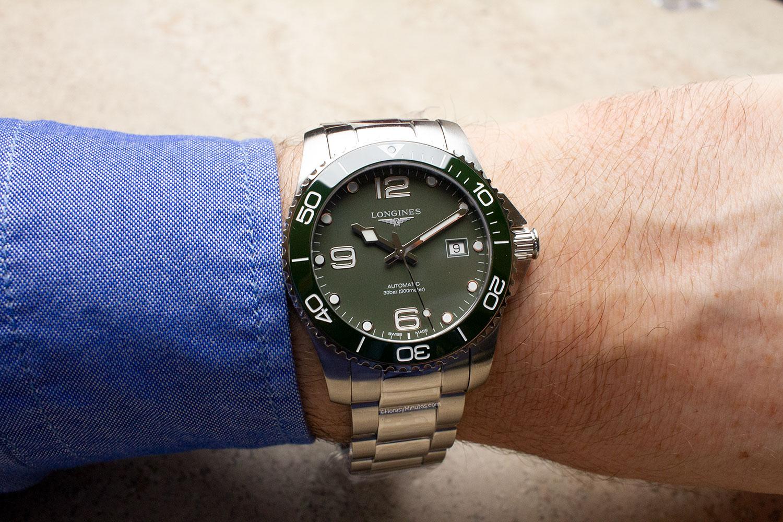 El Longines HydroConquest Green, de frente