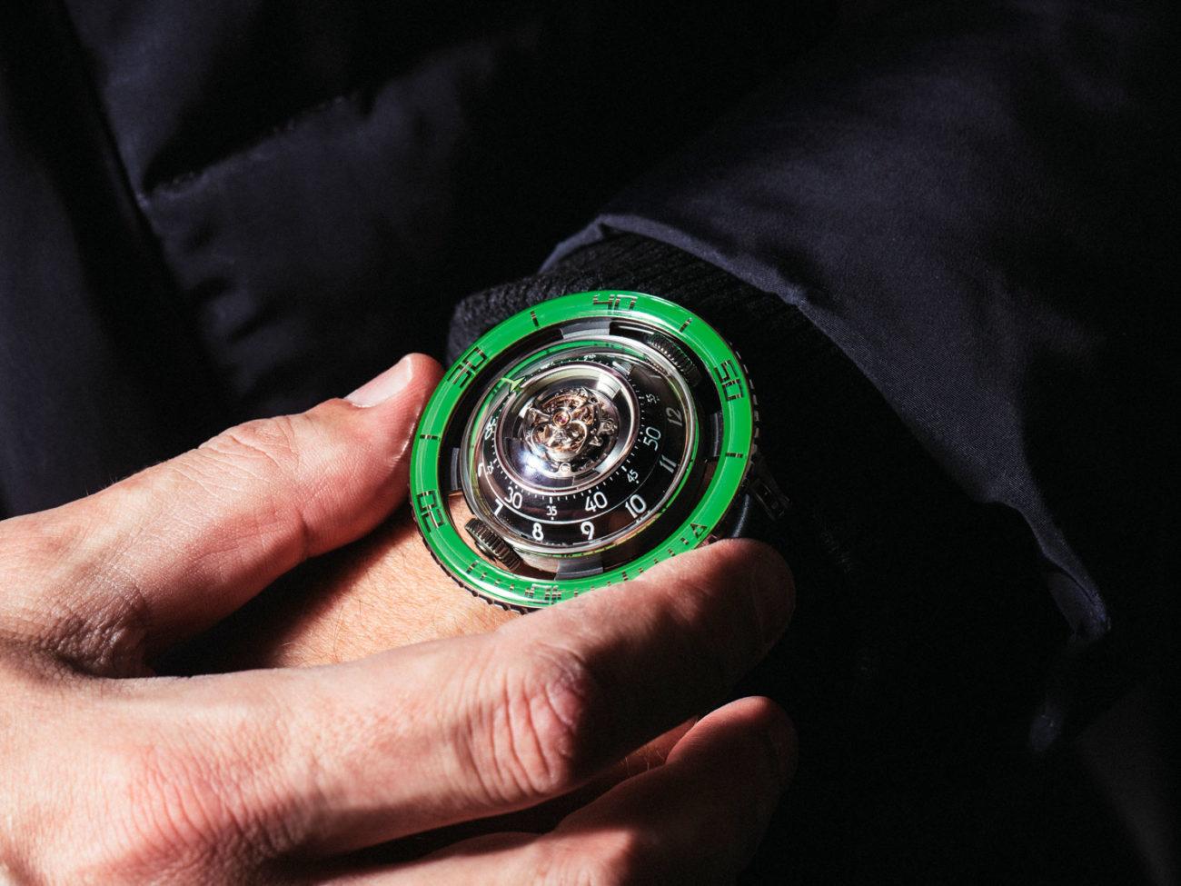 MB&F HM7 Aquapod Ti Green Edición Limitada