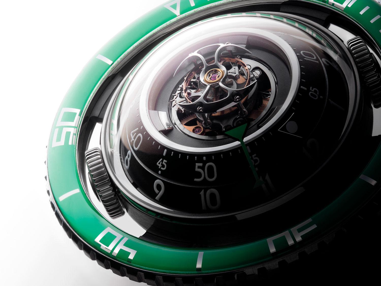 MB&F HM7 Aquapod Ti Green