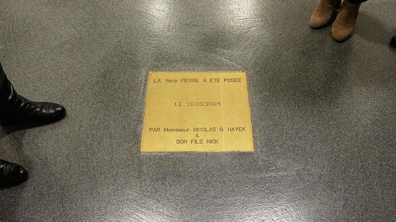 baldosa conmemorativa de la ampliación de la manufactura Breguet