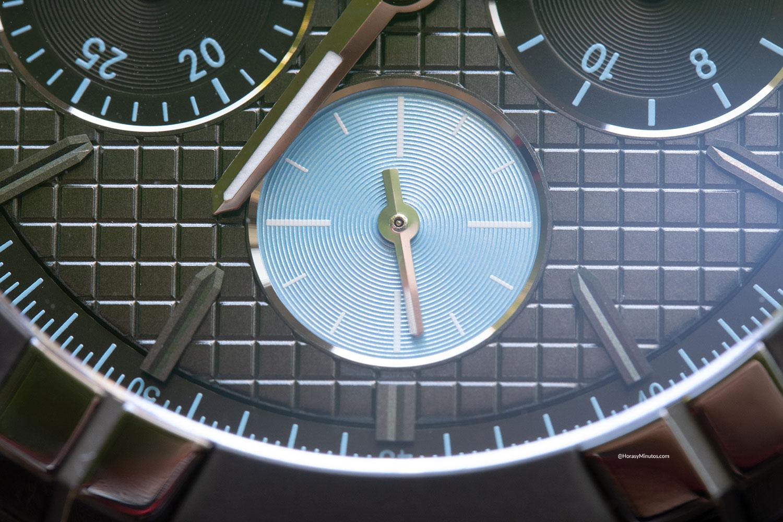 Detalle del pequeño segundero del Maurice Lacroix Aikon Automatic Chronograph Sprint